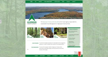 Algonquin-Forestry-Authority Wesbite